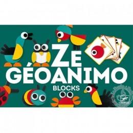 DJECO 06432 Geoanimo. Drewniana układanka - zwierzątka