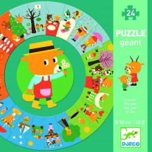 DJECO - Puzzle Gigant 24el. - Pory roku 07016