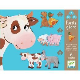 DJECO 07111 Puzzle Gigant - Daisy i Przyjaciele
