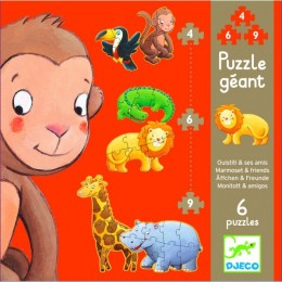 DJECO 07114 Puzzle Gigant - Marmoset i Przyjaciele