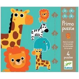 DJECO 07135 Pierwsze Puzzle - Dżungla