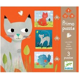 DJECO 07136 Pierwsze Puzzle - Koty