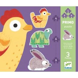 DJECO 07142 Pierwsze Puzzle - Zwierzęta