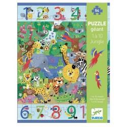 DJECO – Puzzle gigant 54 el. – Dżungla 1 do 10 07148