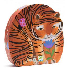DJECO 07201Puzzle w pudełku - Spacer tygrysa