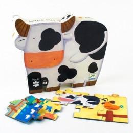 DJECO 07205 Puzzle w pudełku - Krówka