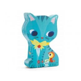 DJECO 07207 Puzzle w pudełku - Kot Pachat