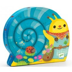 DJECO 07219 Puzzle w pudełku - Ślimak