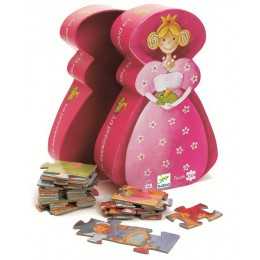 DJECO 07221 Puzzle w pudełku - Księżniczka