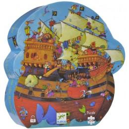 DJECO 07241 Puzzle w pudełku - Statek piracki