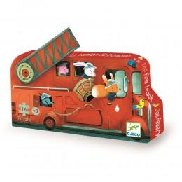 DJECO 07269 Puzzle w pudełku - straż pożarna