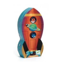 DJECO 07271 Puzzle w pudełku – Statek kosmiczny