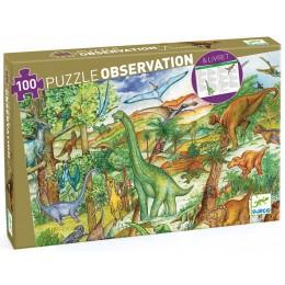 DJECO – Puzzle obserwacyjne 100 el. – Dinozaury 07424