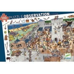 DJECO 07503 Puzzle Obserwacja - Oblężony zamek