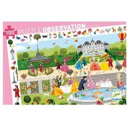 DJECO 07505 Puzzle Obserwacja - Ogrodowe przyjęcie