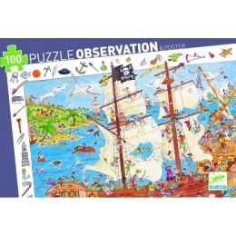 DJECO 07506 Puzzle Obserwacja - Bitwa piratów