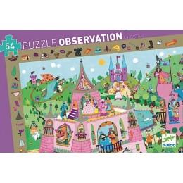 DJECO 07556 Puzzle Obserwacja - Zamek księżniczki