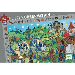 DJECO 07559 Puzzle Obserwacja - Zamek rycerza