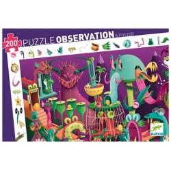 DJECO - Puzzle obserwacyjne 200 el. - W grze video 07560