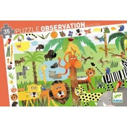 DJECO 07590 Puzzle Obserwacja - Dżungla