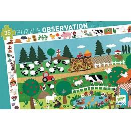 DJECO 07591 Puzzle Obserwacja - Farma