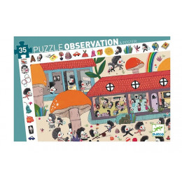 DJECO - Puzzle obserwacyjne - Szkoła dla jeży 07595