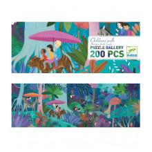 DJECO - Puzzle Gallery 200 el. - Dziecięcy spacer 07607