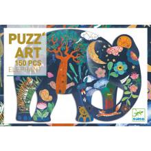 DJECO - Puzzle artystyczne 150el. - Słoń 07652