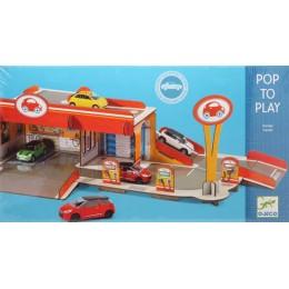 DJECO 07705 Układanka przestrzenna z tektury 3D - Garaż