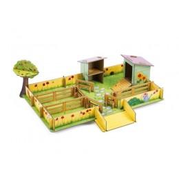 DJECO 07711 Układanka przestrzenna 3D Farma