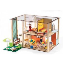 DJECO - Drewniany domek dla lalek Cubic House 07801
