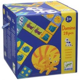 DJECO 08111 Gra Domino - Zwierzęta