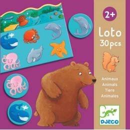 DJECO 08120 Gra edukacyjna LOTTO - Zwierzątka
