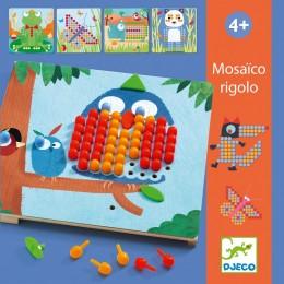 DJECO - Zestaw kreatywny Mozaiki - Kolorowe obrazki - 08136