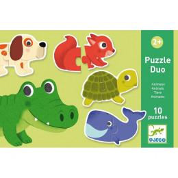 DJECO 08147 Puzzle Duo - Zwierzątka