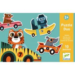 DJECO 08148 Puzzle Duo - Wyścigówki