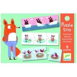 DJECO 08149 Puzzle Trio - historyjki