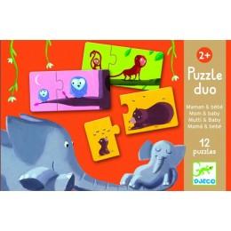 DJECO 08157 Puzzle Duo - Mamy z dziećmi