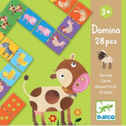 DJECO 08158 Gra Domino - Zwierzęta z farmy