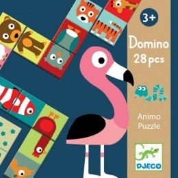 DJECO 08165 Gra edukacyjna Domino - ANIMO
