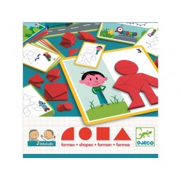 DJECO 08300 Gra EDULUDO - Układka z figur geometrycznych