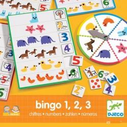 DJECO - Gra edukacyjna Bingo 1,2,3 - 08318