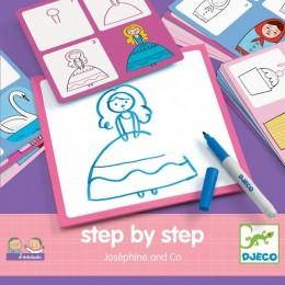 DJECO 08320 EDULUDO Rysowanie krok po kroku - Josephine