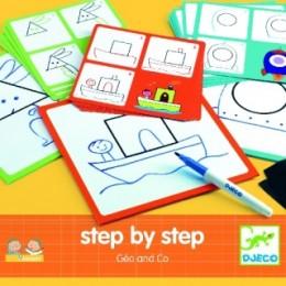DJECO 08322 Rysowanie krok po kroku Geo & Co