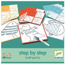 DJECO 08324 EDULUDO Rysowanie krok po kroku - Graff & Co