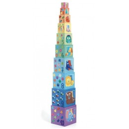 DJECO 08510 Piramida z kostek – Tęcza
