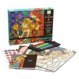 DJECO 08607 Zestaw Artystyczny - Rysowanie - Art Nouveau