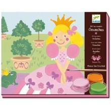 DJECO 08626 Zestaw artystyczny - Malowanie farbkami - Księżniczka