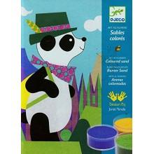DJECO 08630 Zestaw artystyczny - Malowanie piaskiem - Panda