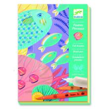 DJECO - Zestaw artystyczny z flamastrami - Morskie głębiny 08647